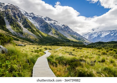 Path on the Mount Cook trek