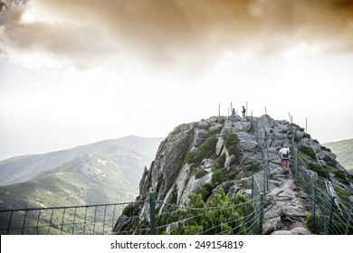 path on the mountain top