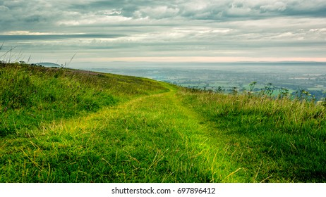 Path on the side of a hill