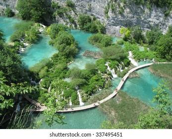 path on waterfalls