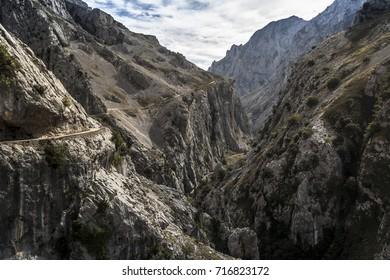 path of the river Cares, Picos de Europa. Asturias