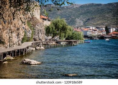 Path to Saint John the Theologian Kaneo from the lakeside Ohrid, Macedonia