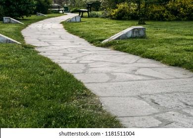 Path through a park