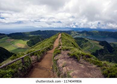 path to view at Sete Cidades, Sao Miguel