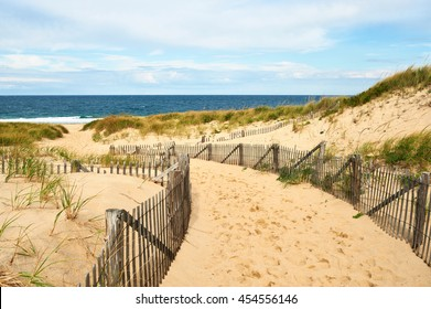 Path way to the beach at Cape Cod, Massachusetts, USA.