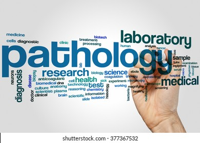 Pathology word cloud concept