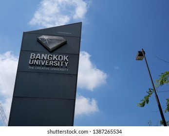 Pathum Thani, Thailand - April 29 2019: Bangkok University.