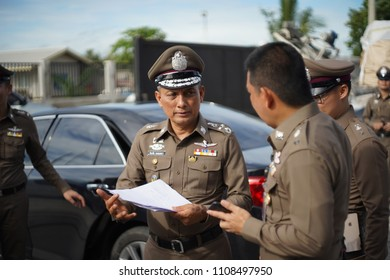 Pathum Thani/Thailand- June 8, 2018; The Royal Thai Police, by the lead of the Deputy Commissioner-General, is on the raid of illegal electronic waste in Thailand.