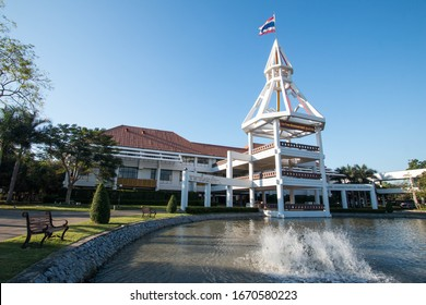 PATHUMTANI, THAILAND - February 15, 2020 : Thammasat University Rangsit campus, It is the famous university in Thailand.