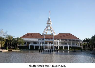 PATHUMTANI, THAILAND - February 16, 2020 : Thammasat University Rangsit campus, It is the famous university in Thailand.