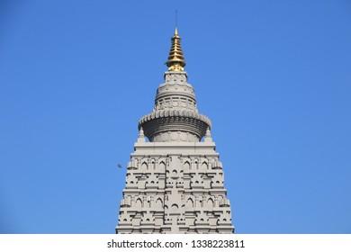 PATHUMTANI THAILAND Mar 2019 : The Buddha Maha Cetiya  in Panyanantaram temple,Klong Luang,Pathumtani,Thailand