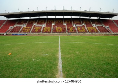 PATHUMTHANI,THAILAND FEB 7 :View of Thammasat Stadium before geam during a friendly match between Bangkok Glass FC and Cerezo Ozaka FC at Thammasat Stadium on February 7,2013 in Thailand