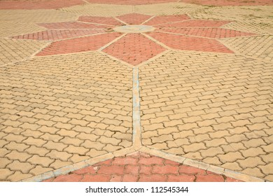 Pathway in Garden with concrete bumps