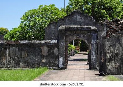 Pathway gate at the Hue Citadel, Vietnam