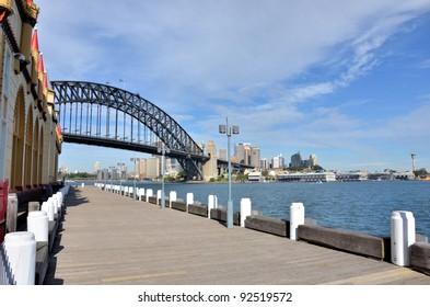 Pathway to Harbour Bridge, Sydney