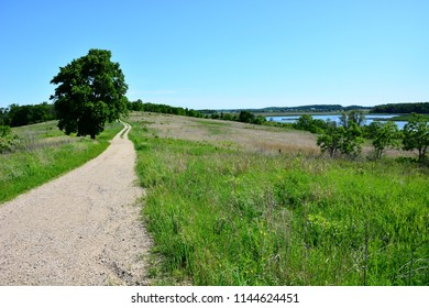 A pathway leading to the beautiful marshes at Horicon marsh Wisconsin.