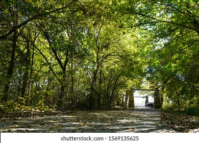 Pathway in Oak Point Park and Nature Preserve in Plano, Texas