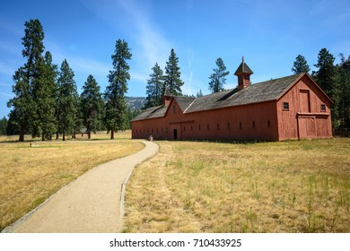 Pathway to Red Barn at Fort Spokane in Lake Roosevelt National Recreation Area