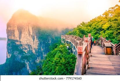 pathway in Tianmenshan mountain,Zhangjiajie,Hunan,China