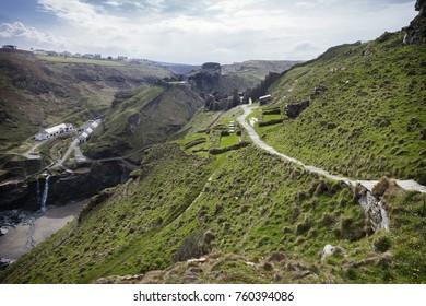 Pathway at Tintagel, Cornwall