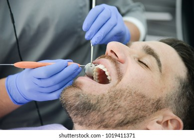 patient in dental clinic