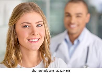 Patient, doctor, women.