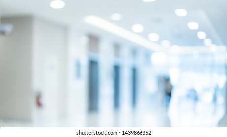Patient In Hospital Blurred Background