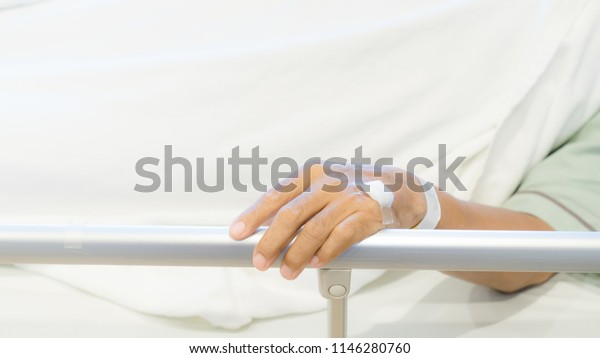 Patient lying in bed