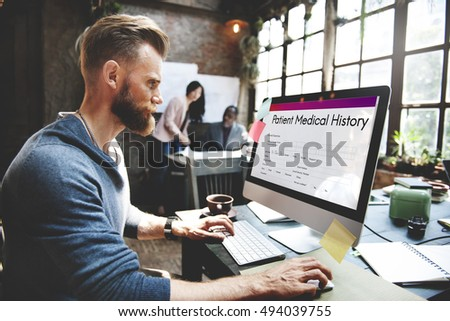 patient medical history form concept stock photo edit now