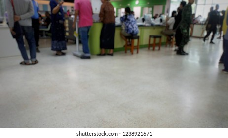 Patients come to the hospital for treatment.
