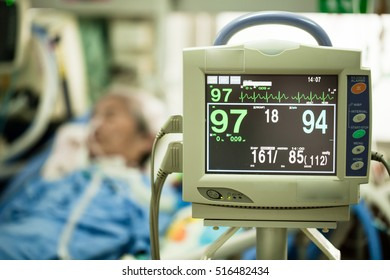 Patients monitor in hospital