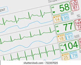 Vital signs images stock photos vectors shutterstock patients vital signs on light icu monitor isolated closeup dutched left ccuart Choice Image