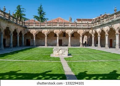 Patio de Escuelas of university of Salamanca in the historic center of the city