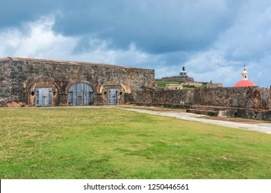 patio at el morro a san juan national historic site also designated a world heritage site and run by the national park service