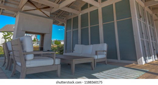 Patio of a house in Daybreak Utah on a sunny day