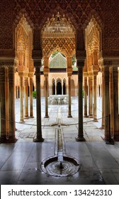 Patio of the Lions in the Alhambra, Granada