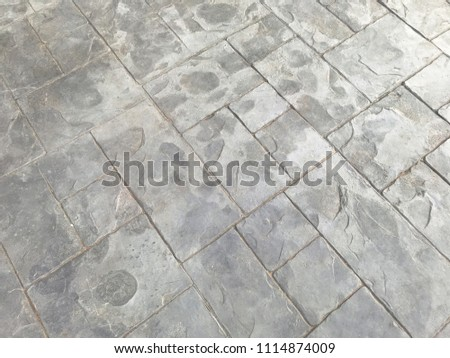 Patio Stamp Concrete Floor Texture Background Stock Photo Edit Now