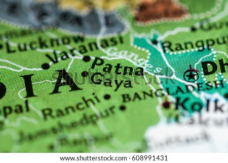 Patna In India Map.Patna India Stock Photo Edit Now 608991431 Shutterstock