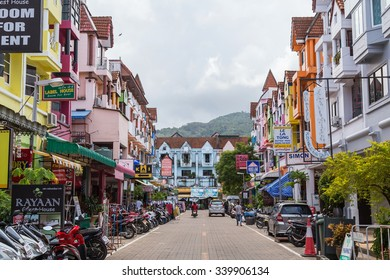 PATONG BEACH, THAILAND - CIRCA SEPTEMBER 2015: Streets of Patong Beach resort town, Patong Beach, Phuket, Thailand