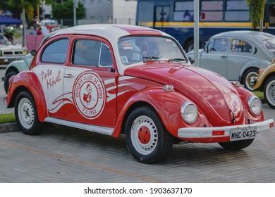 PATOS, PARAÍBA, BRAZIL - DECEMBER 12, 2020: View of vintage cars.