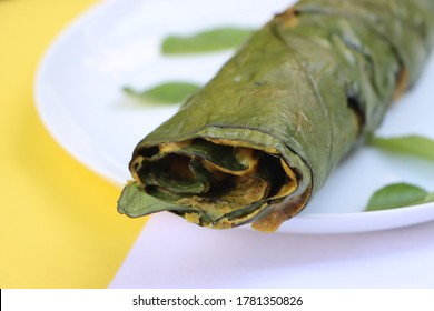 Patra or Paatra or Alu Vadi or Alu wadi is a popular maharashtrian and Gujarati snack made using colocasia leaves, gram flour and flavourings spices, tamarind, and jaggery, steamed rolls