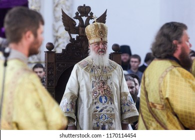 Patriarch Kirill of Moscow and All Russia during a liturgy. Kyiv, Ukraine. 28-07-2012