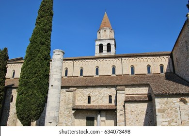 The Patriarchal Basilica Santa Maria Assunta of Aquileia, an ancient Roman city in North Italy. The Basilica was erected in 1031. Italy, Europe.