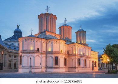 Patriarchal cathedral of Bucharest at sunset, Romania