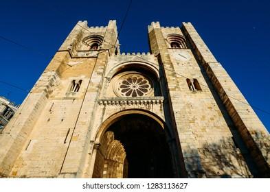 Patriarchal Cathedral of St. Mary Major, Santa Maria Maior de Lisboa or Se de Lisboa, in Lisbon, Portugal.