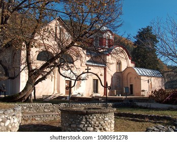 The Patriarchate of Pec Serbian Monastery from 13th century located in Kosovo. UNESCO World Heritage site.