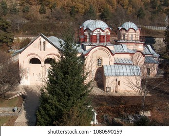 The Patriarchy of Pec Serbian Monastery from 13th century located in Kosovo. UNESCO World Heritage site.