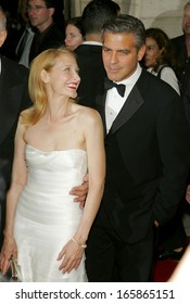 Patricia Clarkson, George Clooney at Good Night, and Good Luck New York Film Festival Premiere, Avery Fisher Hall at Lincoln Center, New York, September 23, 2005