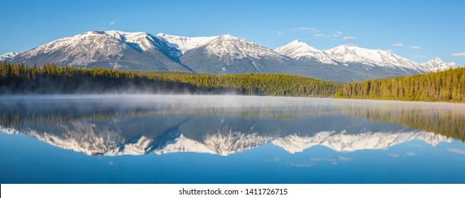 Patricia Lake in Jasper National Park. Alberta, Canada.