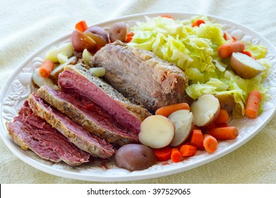 Patrick's Day corned beef delicious fresh food.